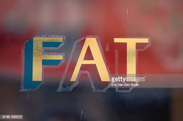 fat sign - eric van den brulle stock pictures, royalty-free photos & images