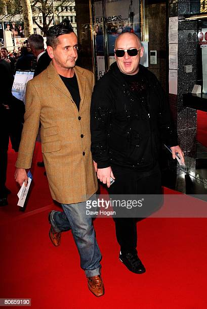 Fat Tony and Boy George arrive at the UK premiere of 'Flashbacks of a Fool' at the Empire cinema Leicester Square on April 13 2008 in London England