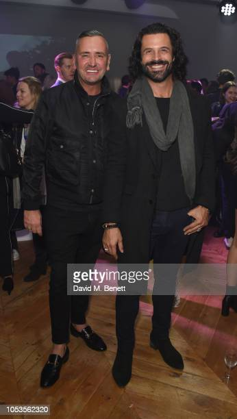 Fat Tony and Christian Vit attend the Models 1 50th anniversary party at Spring Studios on October 25 2018 in London England