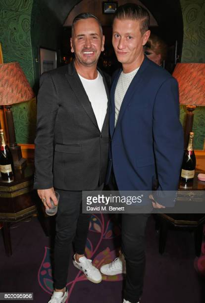 Fat Tony and David Graham attend the Rita Ora dinner and performance at Annabel's on June 27 2017 in London England