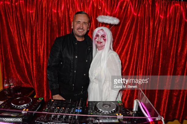 Fat Tony and Fran Cutler attend Fran Cutler's annual Halloween party in association with CIROC Vodka Black Raspberry at MOMO on October 31 2018 in...