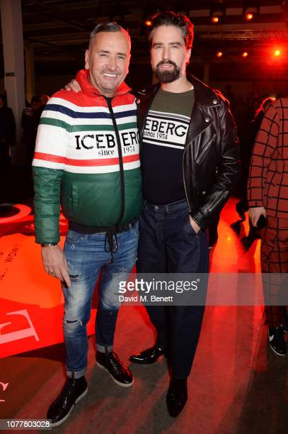 Fat Tony and Jack Guinness attend the Iceberg show during London Fashion Week Men's January 2019 at BFC Show Space on January 5 2019 in London England
