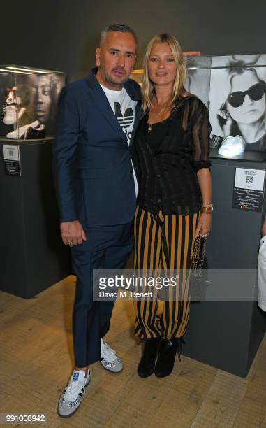 Fat Tony and Kate Moss attend adidas 'Prouder' A Fat Tony Project in aid of the Albert Kennedy Trust supporting LGBT youth at Heni Gallery Soho on...