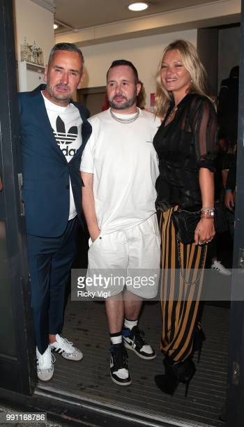 Fat Tony and Kate Moss seen attending HENI Gallery x adidas #prouder private view on July 3 2018 in London England