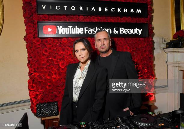 Fat Tony and Victoria Beckham attend the Victoria Beckham x YouTube Fashion & Beauty After Party at London Fashion Week hosted by Derek Blasberg and...