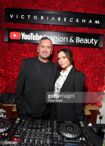 Fat Tony and Victoria Beckham attend the Victoria Beckham x YouTube Fashion Beauty After Party at London Fashion Week hosted by Derek Blasberg and...