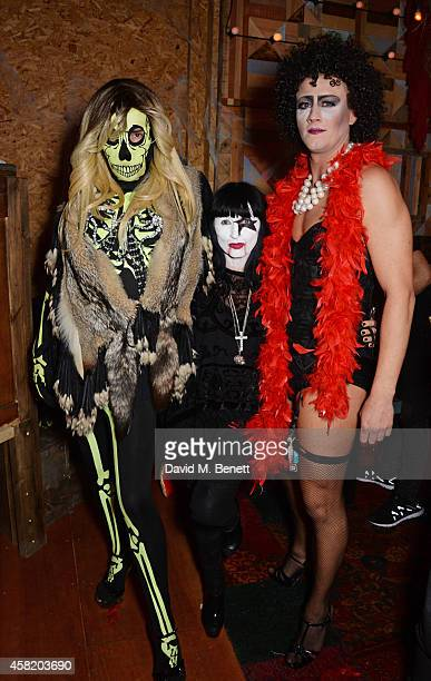 Fat Tony Charlotte Cutler and David Graham attend 'Death Of A Geisha' hosted by Fran Cutler and Cafe KaiZen with Grey Goose on October 31 2014 in...