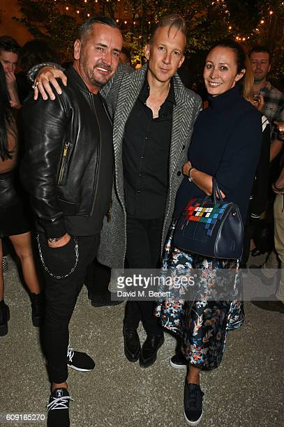 Fat Tony Jefferson Hack and Caroline Rush attend the launch party hosted by Christopher Bailey and Jefferson Hack to celebrate the Burberry and Dazed...