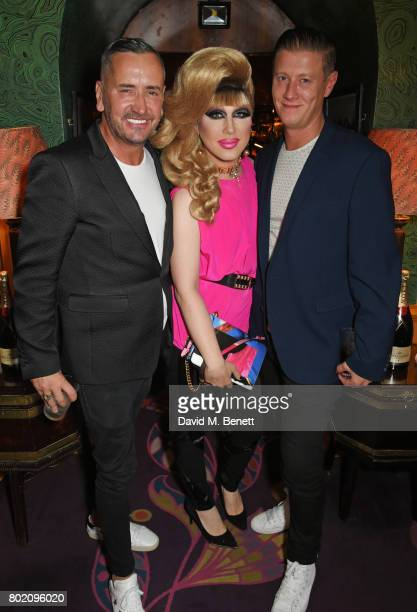 Fat Tony Jodie Harsh and David Graham attend the Rita Ora dinner and performance at Annabel's on June 27 2017 in London England