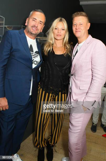 Fat Tony Kate Moss and David Graham attend adidas 'Prouder' A Fat Tony Project in aid of the Albert Kennedy Trust supporting LGBT youth at Heni...
