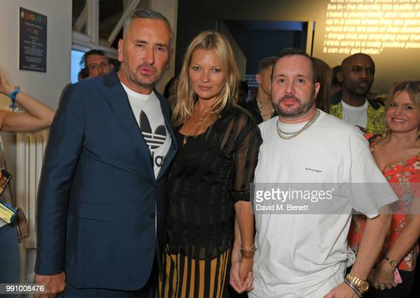 Fat Tony Kate Moss and Kim Jones attend adidas 'Prouder' A Fat Tony Project in aid of the Albert Kennedy Trust supporting LGBT youth at Heni Gallery...