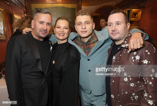 Fat Tony Kate Moss Blondey Mccoy and Kim Jones attend as Edward Enninful and Kate Moss celebrate Giovanni Morelli as the new creative director of...