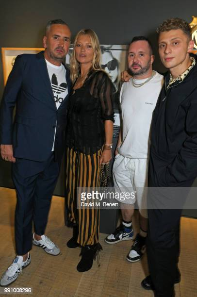 Fat Tony Kate Moss Kim Jones and Blondey McCoy attend adidas 'Prouder' A Fat Tony Project in aid of the Albert Kennedy Trust supporting LGBT youth at...