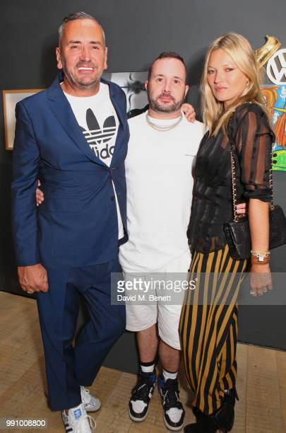 Fat Tony Kim Jones and Kate Moss attend adidas 'Prouder' A Fat Tony Project in aid of the Albert Kennedy Trust supporting LGBT youth at Heni Gallery...