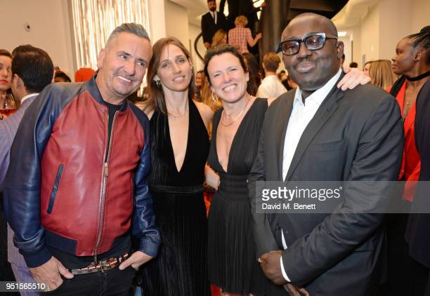 Fat Tony Rosemary Ferguson Katie Grand and Edward Enninful attend the opening of Maison Alaia on New Bond Street on April 26 2018 in London England