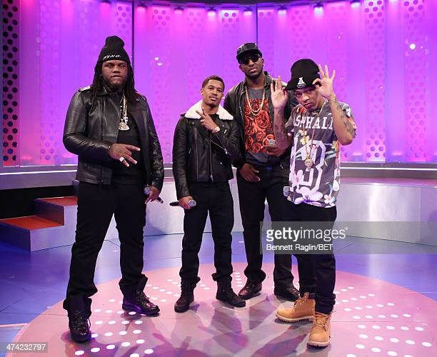 Fat Trel Tracy T DJ Scream and Bow Wow attend 106 Park at BET studio on February 13 2014 in New York City