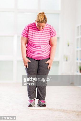 Fat woman standing