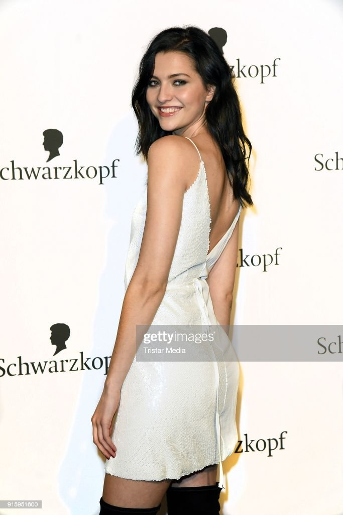 Fata Hasanovic attends the 120th anniversary celebration of Schwarzkopf at U3 subway tunnel Potsdamer Platz on February 8, 2018 in Berlin, Germany.