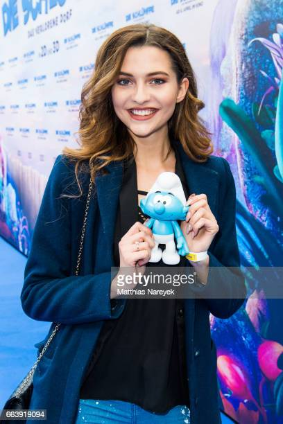 Fata Hasanovic attends the 'Die Schluempfe Das verlorene Dorf' Berlin Premiere at Sony Centre on April 2 2017 in Berlin Germany