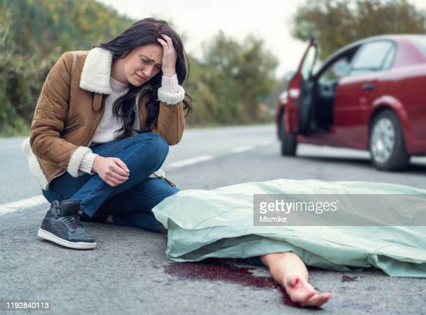 fatal car accident on the country road - of dead people in car accidents stock pictures, royalty-free photos & images