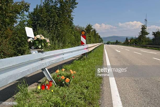 accident de fatale site - accident de la route photos et images de collection