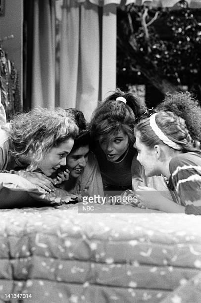 "Fatal Distraction"" Episode 4 -- Air Date -- Pictured: Elizabeth Berkley as Jessie Spano, Tiffani Thiessen as Kelly Kapowski-- Photo by: Joseph Del..."