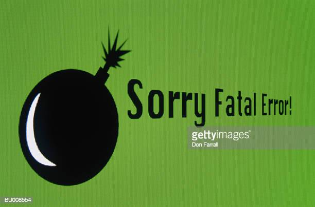 fatal error message on computer screen - error message stock pictures, royalty-free photos & images
