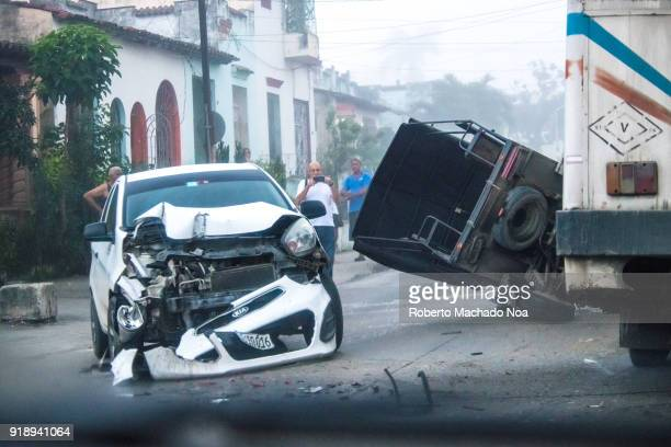 Fatal traffic collision on the Central Road and Colon Street The accident happened on a foggy morning between a car and a 'motoneta' One person died...