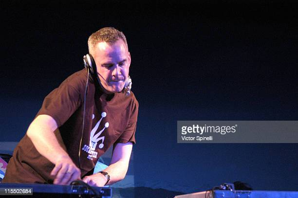 FatBoy Slim during FatBoy Slim Spinning to Promote His CD Palookaville at the Los Angeles County Museum of Natural History at Los Angeles County...