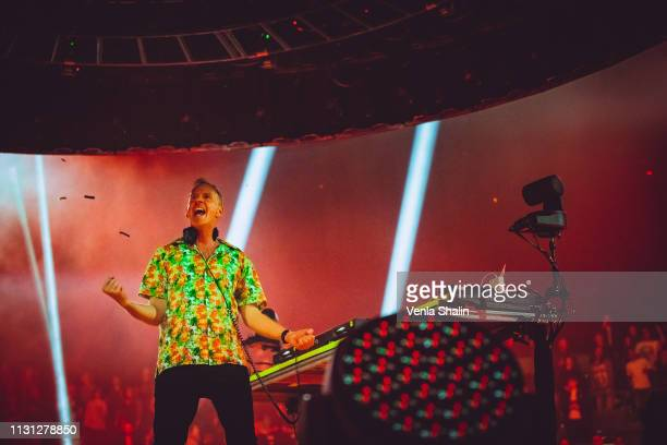Fatboy Slim performs at the SSE Arena on February 21 2019 in London England