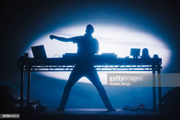 Fatboy Slim performs on the Radio 1 Dance stage during day 2 at Leeds Festival at Bramhall Park on August 26, 2017 in Leeds, England.