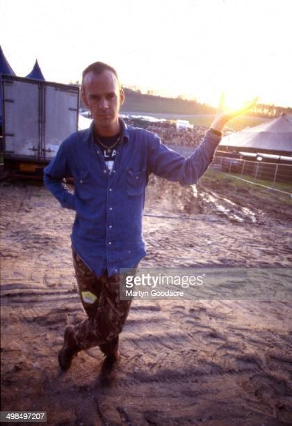 Fatboy Slim portrait backstage at Creamfields United Kingdom 1998