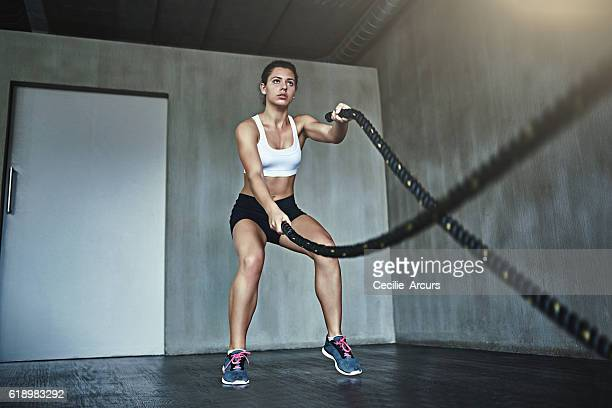 Fat-burning, body building battle ropes