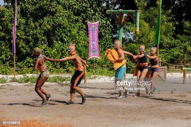 'Fate Is The Homie' Desiree Afuye James Lim Michael Yerger Kellyn Bechtold and Angela Perkins on the sixth episode of Survivor Ghost Island airing...