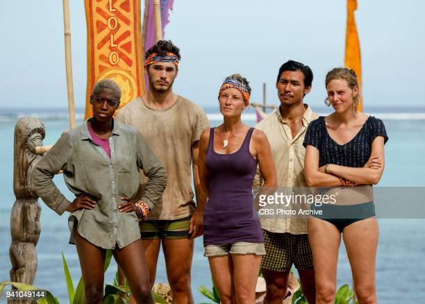 Fate Is The Homie Desiree Afuye Michael Yerger Angela Perkins James Lim and Kellyn Bechtold on the sixth episode of Survivor Ghost Island airing...