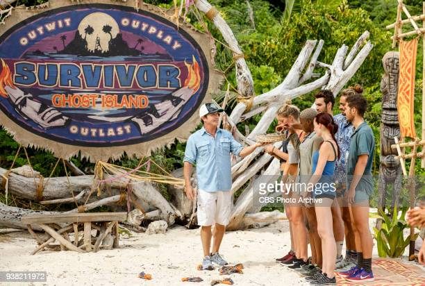 "Fate Is The Homie"" - Jeff Probst and Tribe Malolo on the sixth episode of Survivor: Ghost Island, airing Wednesday, March 28 on the CBS Television..."