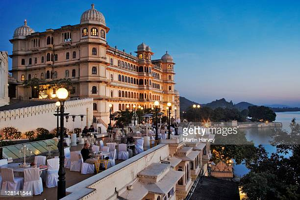 Fateh Prakash Palace, built along the shores of Lake Pichola. This Grand Heritage Hotel was named after Maharana Fateh Singh, a great leader of the Merwar dynasty. Udaipur, India.