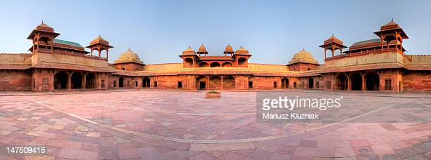 fatehpur sikri fortress india - fatehpur sikri stock pictures, royalty-free photos & images