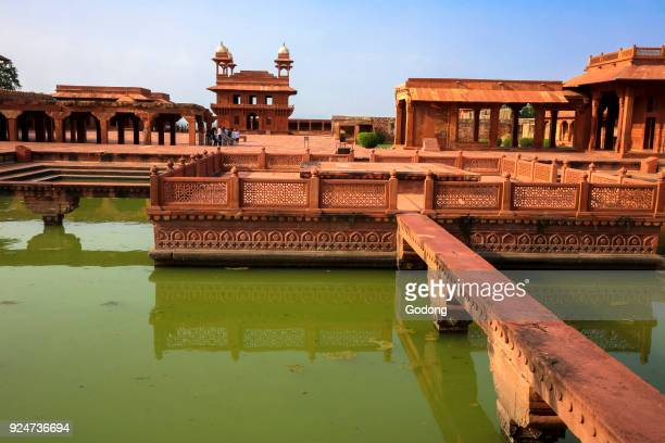 Fatehpur Sikri founded in 1569 by the Mughal Emperor Akbar served as the capital of the Mughal Empire from 1571 to 1585 Imperial Palace complex Anup...