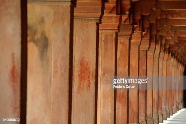 Fatehpur Sikri, founded in 1569 by the Mughal Emperor Akbar, served as the capital of the Mughal Empire from 1571 to 1585. Surrounding wall of the...