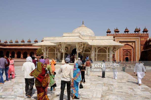 Fatehpur Sikri founded in 1569 by the Mughal Emperor Akbar served as the capital of the Mughal Empire from 1571 to 1585 Surrounding wall of the Jama...