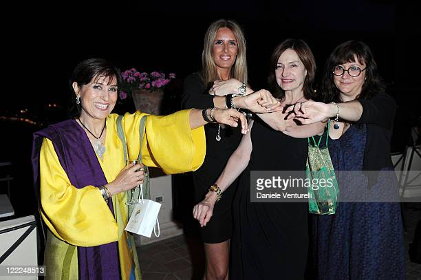 Fatemeh Motamed Arya, Tiziana Rocca, Deborah Young and Isabel Coixet attend the Taormina Arte Award during the Taormina Film Fest 2010 on June 15,...
