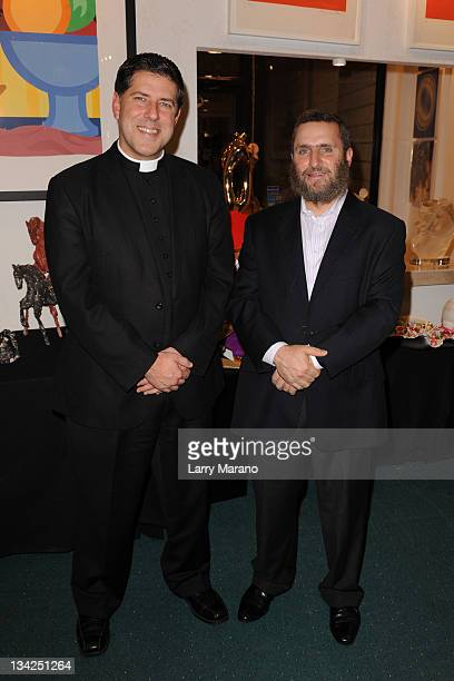 Father Albert Cutie and Rabbi Shmuel Shmuley Boteach attend Art Basel Aventura a Cause on sexual abuse for Ax Sex Abusers Now at Gallery Art on...