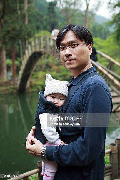 father and baby girl - strap stock photos and pictures