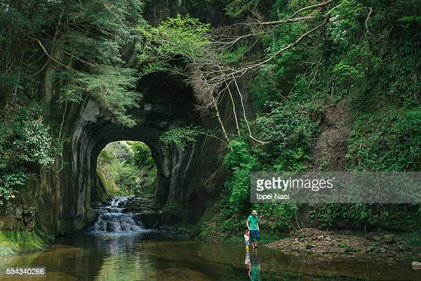 father and child exploring nature together, chiba, japan - chiba city stock pictures, royalty-free photos & images