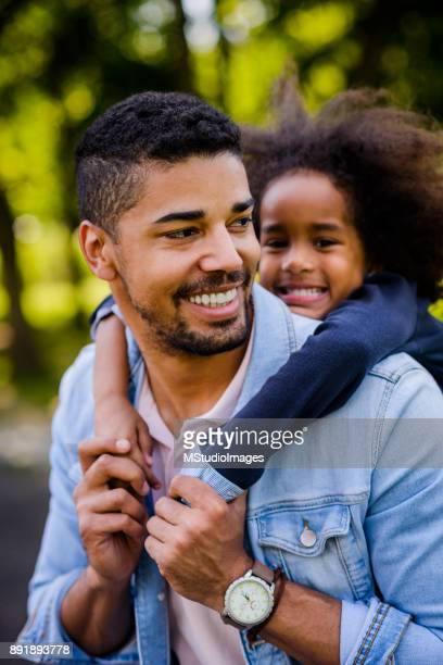 Father and daughte portrait.