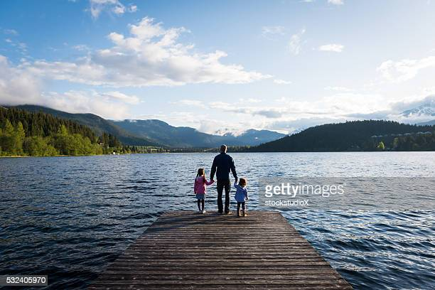 father and daughter connection - escapism stock photos and pictures