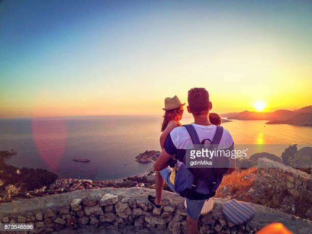 father and daughter connection - montenegro stock pictures, royalty-free photos & images
