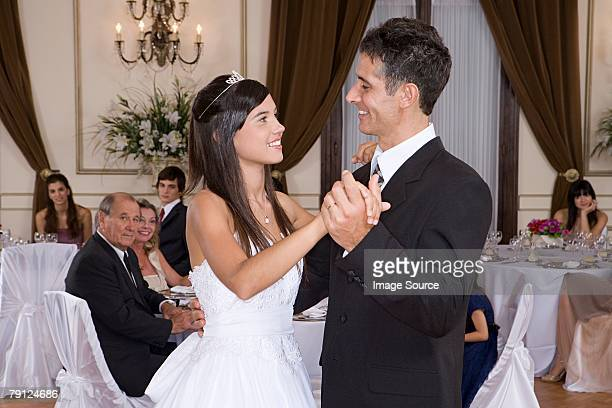 father and daughter dancing - quinceanera stock pictures, royalty-free photos & images
