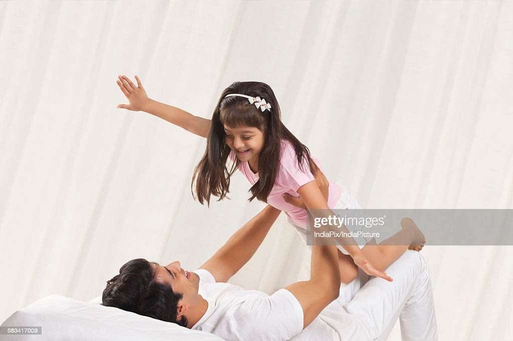 Father and daughter enjoying : Stock Photo